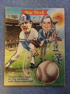 Two Vintage Toronto Star TV Guide Blue Jays First Season 1977/81