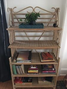 Bamboo shelf.
