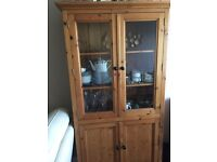 Solid pine cabinet, good condition £75