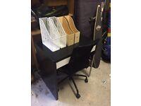 IKEA Desk, Chair & File Storage