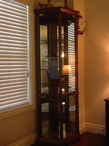 Curio Oak and Glass Display Cabinet