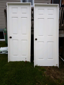 2 pre hung 30 inch right hand swing doors