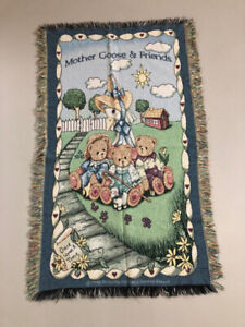 2 Child's Blankets..Winnie The Pooh...Mother Goose & Friends -