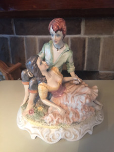 vintage Capodimonte figurine of a young couple