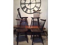Set of 4 Retro 'Drevounia Czechoslovakian' stickback kitchen/dining chairs