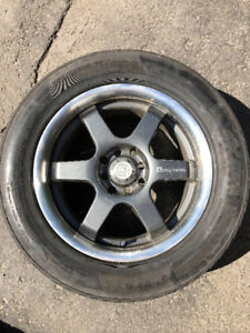 4 Pnues avec mags 225/55R16 99W/4 Tires with Mags 225/55R16 99W