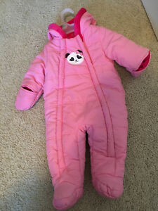 3 to 6 Months  Winter snow suit for girls