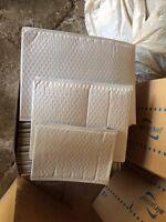 550 plastic white bubble wrap envelops