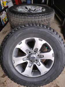 Bridgestone Blizzak Winter Tires on F150 Rims. P275/65R18