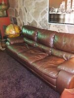 Full grain Italian leather couch