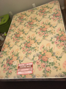 Sears Double Mattress and Boxspring with Frame and Headboard