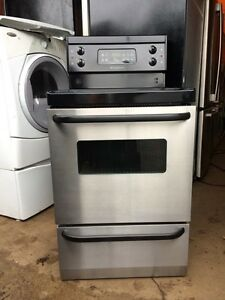 "Stainless Steel 24"" Apartment Size Stove"