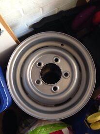Land Rover series 3 steel wheel's x2