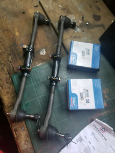 Front u joint and tie rods