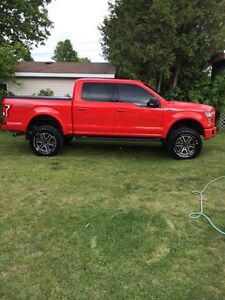 "2015 Ford F-150  4x4 lifted 6"" suspension lift 35"" tires"