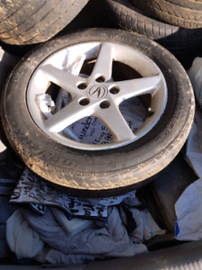 Acura 205/55 16 summer tires with mags