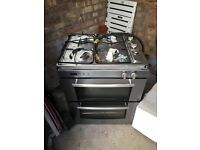 Belling double oven with grill and 4 burner gas hob