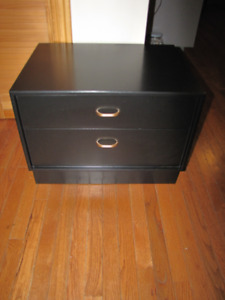 Solid Wood Black Night/Side Table