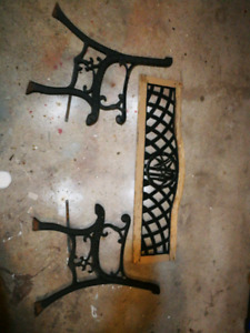 Wroght Iron Bench Ends