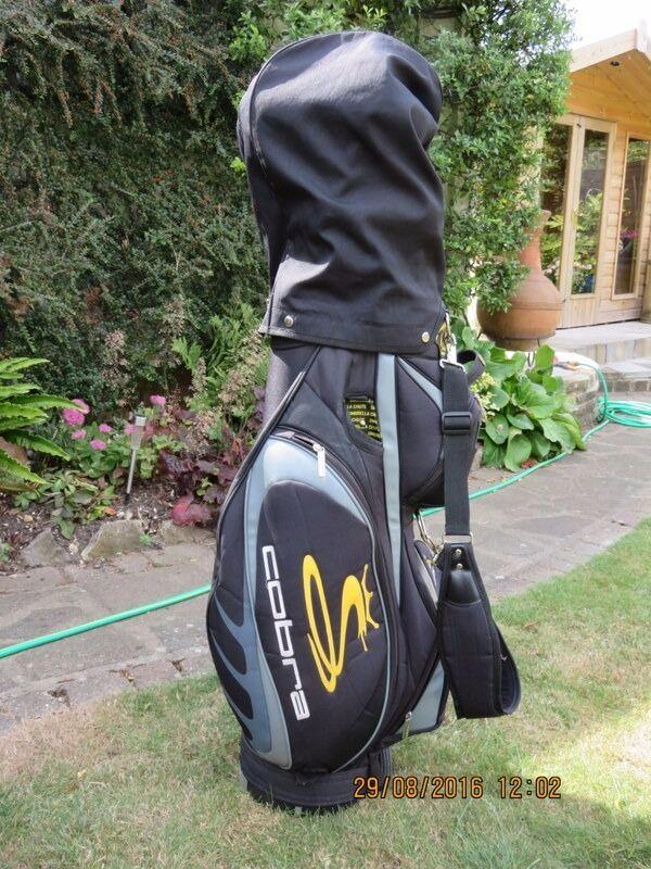 Cobra Golf Cart Bag Black Amp Yellow Rain Hood Amp Carrying