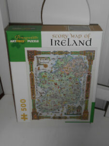 Map of Ireland Puzzle  Brand New sealed in box  500 Pieces
