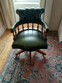 Leather study chair