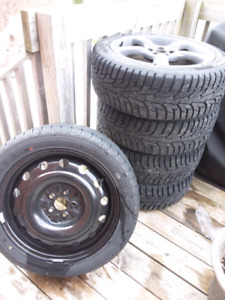 "Winter Hankook iPike 17"" 5x100 w/free full size spare"