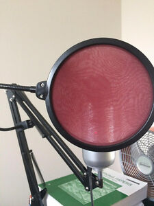 Blue Yeti Microphone with Mic stand and Pop filter