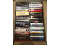 Box of mixed CDs