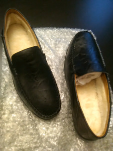 Fur lined dress shoes -new
