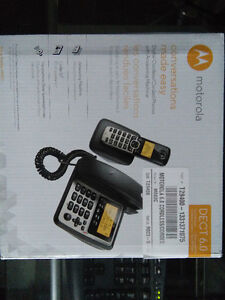 Brand New Motorola 6.0 Cordless/Corded M802C + Answering Machine Oakville / Halton Region Toronto (GTA) image 1