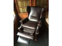 Vintage recliner chair .