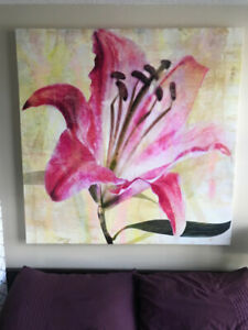 4ft x 4ft Canvas Print -  Lily