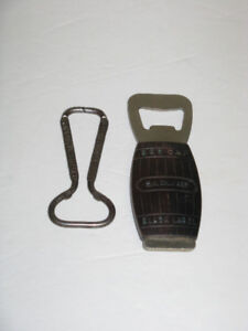 2 DIFF. OLD CARLING BEER BOTTLE OPENERS
