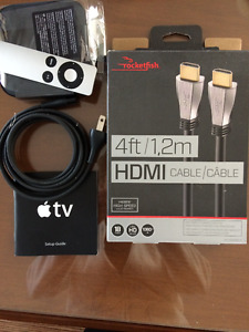 Apple TV MD199C/A & 4ft HDMI cable