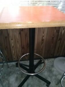 COMMERCIAL  PUB - BAR TABLE  W/ FOOTRAIL MADE TO LAST