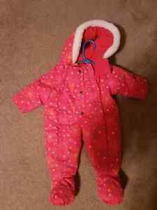 Baby girl 6 to 9 months snowsuit