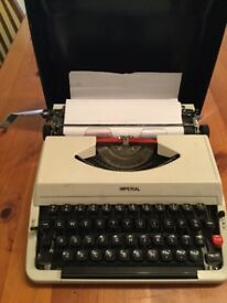 Vintage Imperial portable typewriter