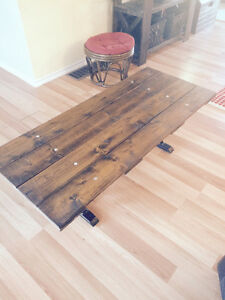 Wooden/steel coffee table