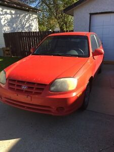 REDUCED 2003 Hyundai Accent GS, 5 speed manual