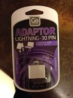 Lightning-30 pin adaptor for ipad/ipod/iphone
