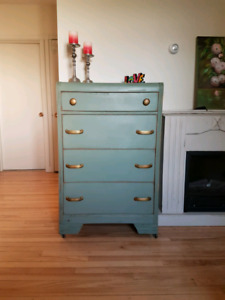 Rustic Antique Style Tall Boy Dresser