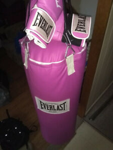 Take out your frustrations on this Hot pink heavy bag.