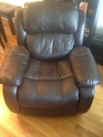 Reclining chair and love seat,