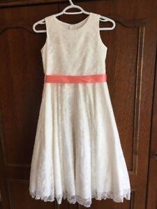 Beautiful off white Flower Girl/Junior Bridesmaid dresses