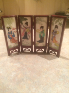 Asian Wood Frame with 8 pictures