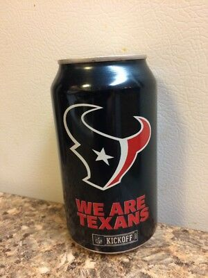 2017 Houston Texans bud light nfl kickoff beer can collectors 666341