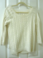 American Eagle White Knitted Sweater