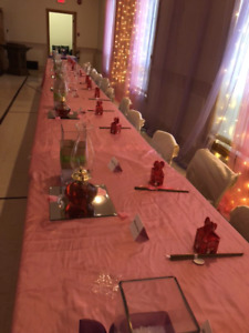 Pink table cloth $45