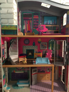 Barbie House Fully Furnished (excellent condition) + Barbie Car